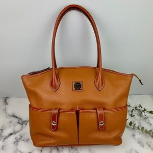 Dooney &Bourke Caramel Pebble Leather Crescent Bag